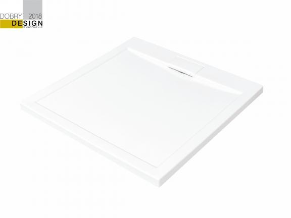 Brodzik kwadratowy Besco Axim Ultraslim Kwadratowy 90 biały 90x90x4.5 BAX-90-KR