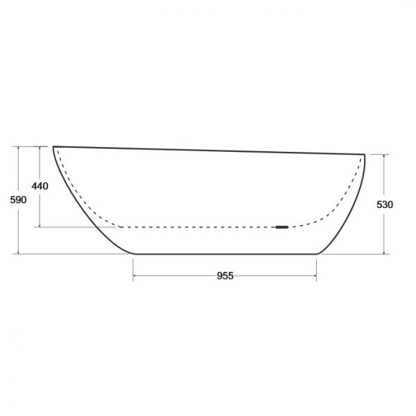 Zdjęcie Wanna wolnostojąca Besco Goya Black 140 XS 142x62cm WMD-140-GB