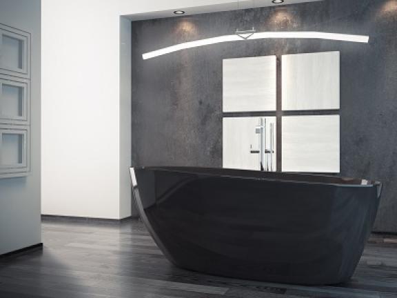 Zdjęcie Wanna wolnostojąca Besco Goya Black 160 160x70cm WMD-160-GB