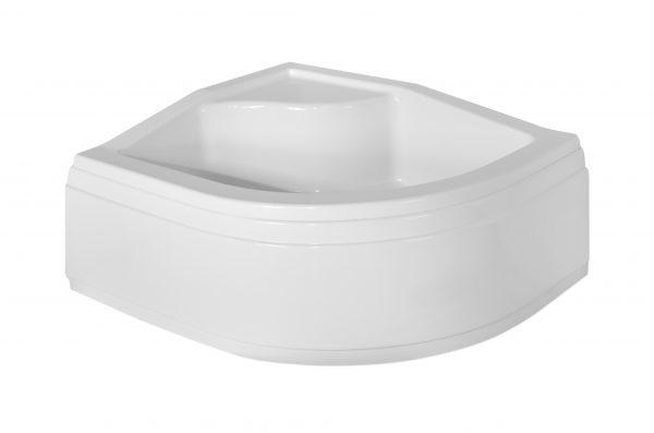 Zdjęcie Brodzik asymetryczny Besco Maxi 120L biały 120x85x24 BAM-120-NL