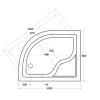 Zdjęcie Brodzik asymetryczny Besco Maxi 100P biały 100x80x24 BAM-100-NP