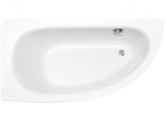 Zdjęcie Wanna narożna asymetryczna Besco Milena 150 Premium Lewa 150x70cm WAM-150-NL$