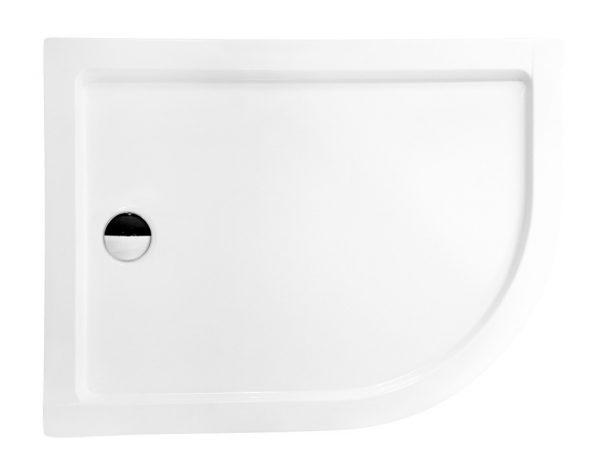 Zdjęcie Brodzik asymetryczny Besco Saturn 120L biały 120x90x4 BAS-120-NL