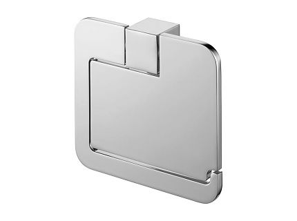 Uchwyt na papier WC z klapką Bisk Futura Silver 02991