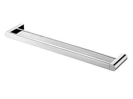Wieszak kąpielowy podwójny 610mm Bisk Futura Silver 02994