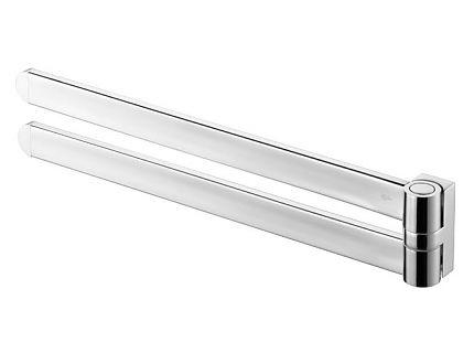 Wieszak dwuramienny ruchomy Bisk Futura Silver 02995