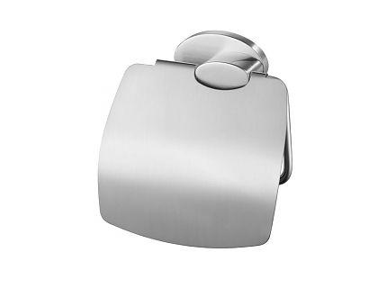 Uchwyt WC z klapką Bisk Side Brushed 03128