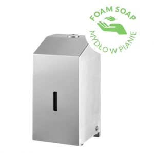 Dystrybutor mydła w pianie Bisk DP-M1 500ml stal sat 06391