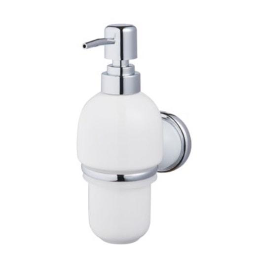 Dozownik do mydła Bisk Grenada BF chrom/biały 06898