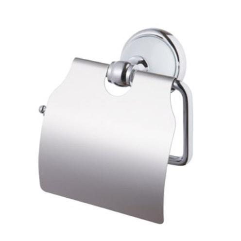Uchwyt  na papier Grenada BF z klapką chrom/biały 06909