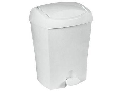Kosz na śmieci Bisk Duo 8l biały na pedał 93902