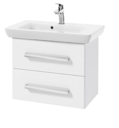 Szafka DEFRA s Cala D65 biały połysk + umywalka Porto 65 001-D-06514+3032