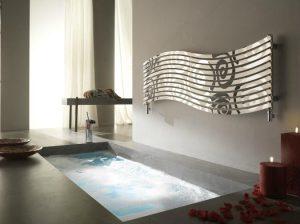 Grzejnik łazienkowy Cordivari Lola Decor Inox pol/sat poziomy