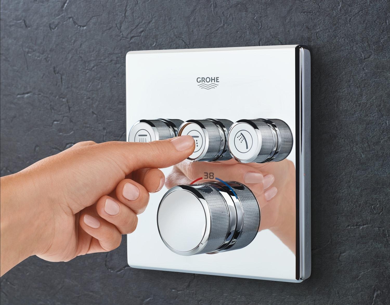 Zdjęcie GROHE Grohtherm SmartControl – podtynkowa bateria termostatyczna do obsługi trzech wyjść wody 29126000 .