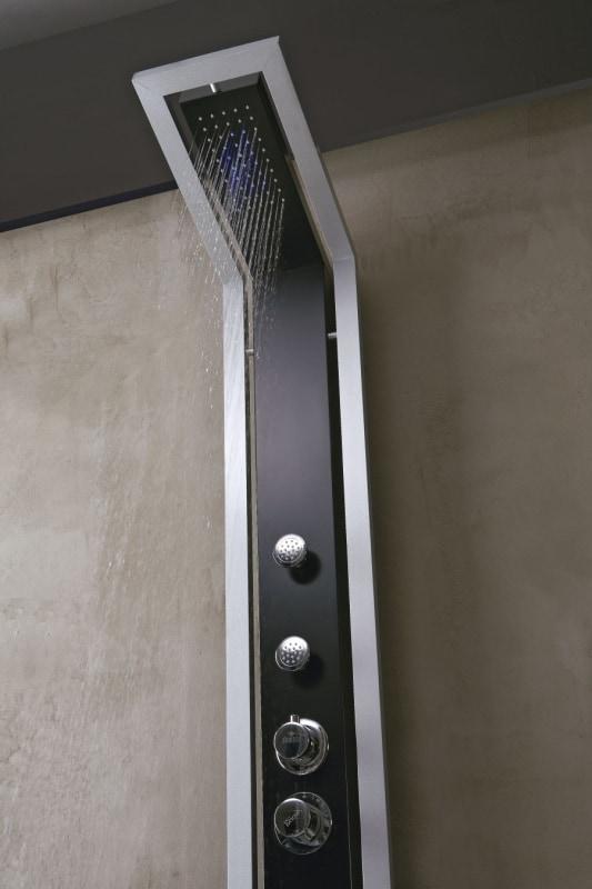 Panel natryskowy Deante Jaguar Industrio czarno-srebrny NQI351T