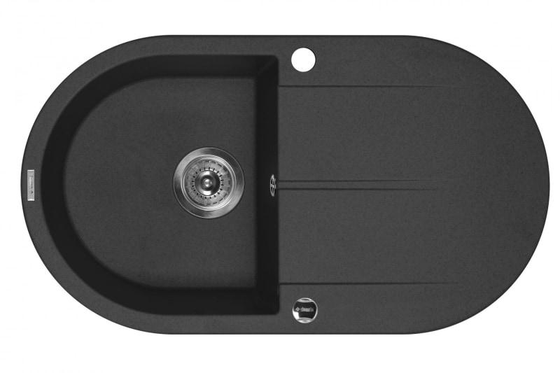 Zlewozmywak Deante Piva 1-komorowy okrągły z ociekaczem grafitowy ZQI211B