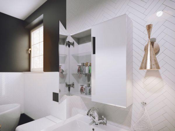 Zdjęcie Szafka lustrzana Defra Armando E60 Biały Połysk 60×60×21,9 cm 001-E-06001