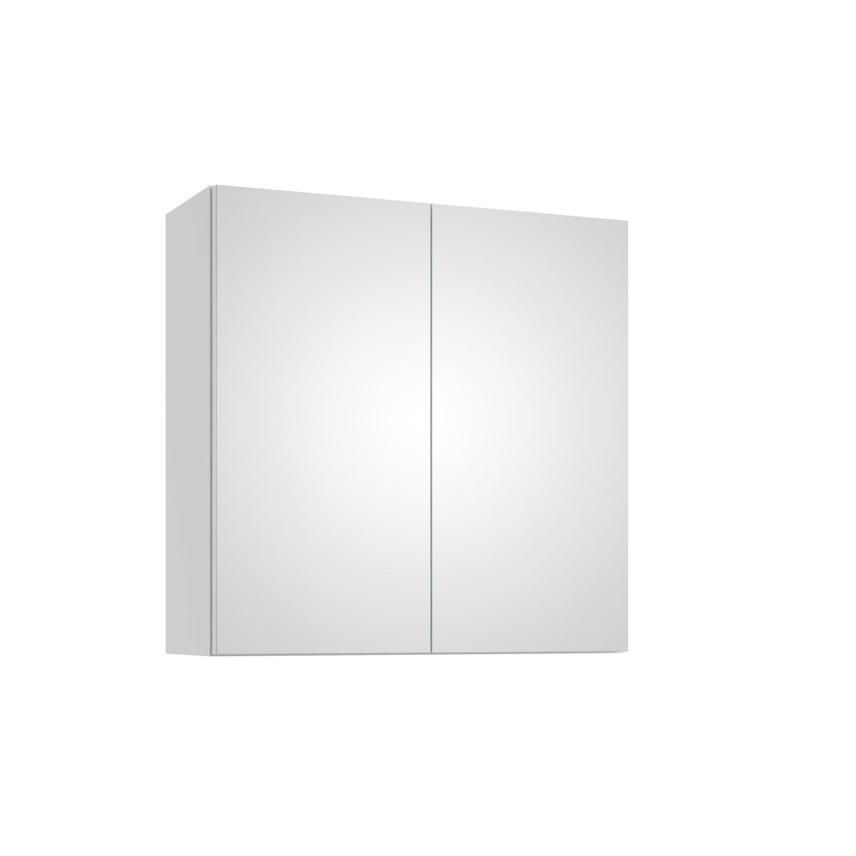 Szafka lustrzana Defra Armando E60 Biały Połysk 60×60×21,9 cm 001-E-06001