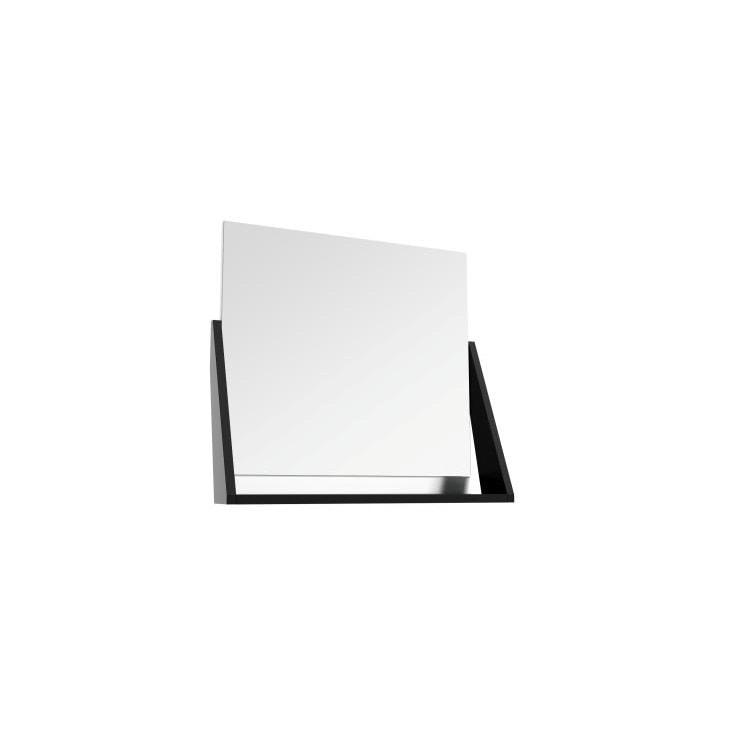 Lustro z Półką Defra Op-Arty L60 Biały Połysk, Czarny Mat 64,2×58,5×20 cm 215-L-06006