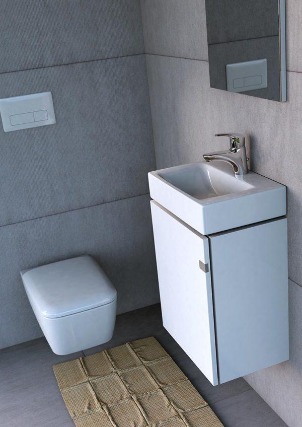 Zdjęcie Umywalka meblowa ceramiczna Defra Frame 80 L 80×45 cm 4094