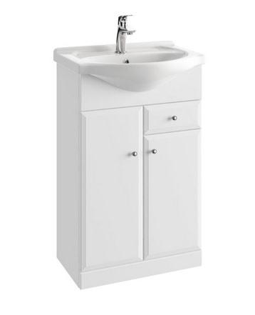 Szafka pod umywalkę z szufladą Defra Armando D55 51,5cm biała 001-D-05503+1521