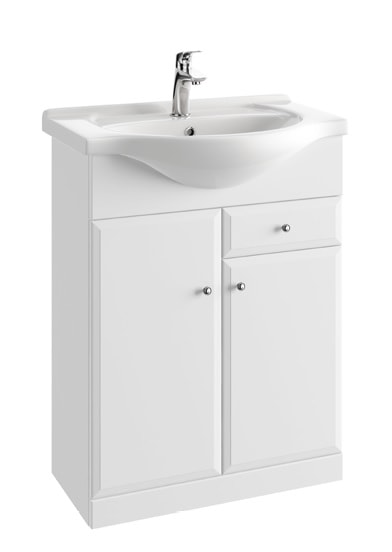 Szafka podumywalkowa Defra Armando D65 biała 61,5×82×29,6cm + Umywalka Defra 001-D-06505+1502