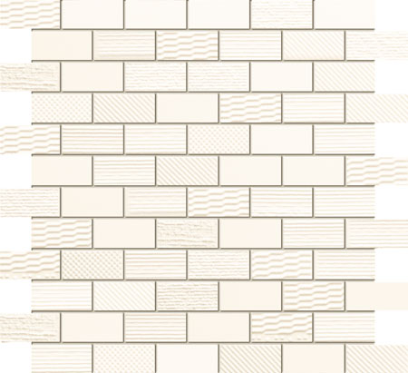Mozaika ścienna Domino Grafite white 29,8x29,8cm