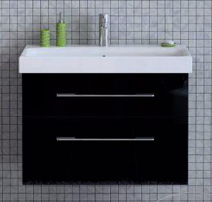 Szafka pod umywalkę Elita Barcelona 80cm czarna 164349