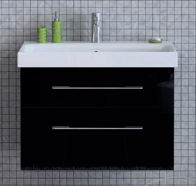 Szafka pod umywalkę Elita Barcelona 60cm czarna 164348