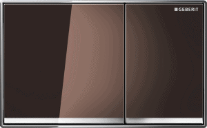 Przycisk spłukujący Geberit Omega60 szkło umbra 115.081.SQ.1
