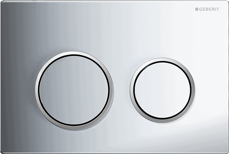 Przycisk spłukujący Geberit Omega20 chrom błyszczący/chrom matowy 115.085.KH.1