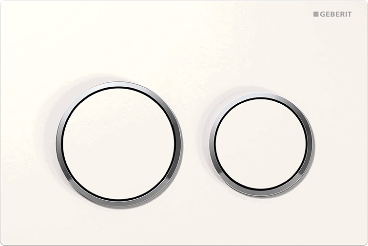 Przycisk spłukujący Geberit Omega20 biały/chrom błyszczący 115.085.KJ.1