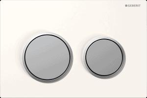 Przycisk spłukujący Geberit Omega20 biały/chrom mat 115.085.KL.1