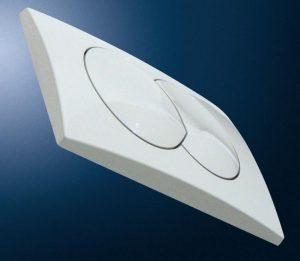 Przycisk uruchamiający Geberit Delta20 do spłuczek podtynkowych, biały-alpin 115100111