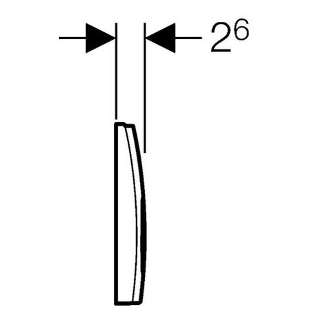 Zdjęcie Przycisk uruchamiający Geberit Delta21 chrom mat (UP100) 115.125.46.1