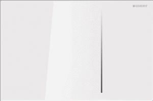Przycisk uruchamiający przedni Geberit Sigma70 szkło białe 115.620.SI.1
