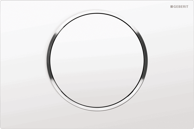 Przycisk uruchamiający przedni Geberit Sigma10 biały/chrom błyszczący/bialy 115.758.KJ.5