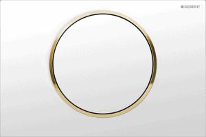 Przycisk uruchamiający przedni Geberit Sigma10 biały/złocony/biały 115.758.KK.5