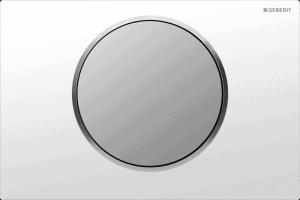 Przycisk uruchamiający przedni Geberit Sigma10 biały/chrom matowy 115.758.KL.5