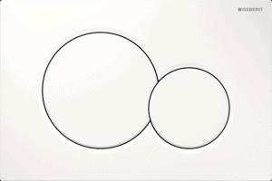 Przycisk uruchamiający przedni Geberit Sigma01 biały alpin 115.770.11.5