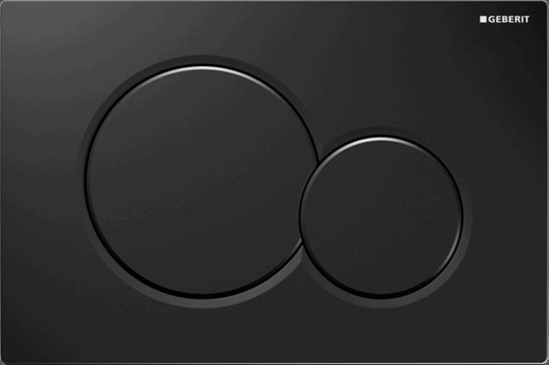 Przycisk uruchamiający przedni Geberit Sigma01 czarny RAL 9005 115.770.DW.5