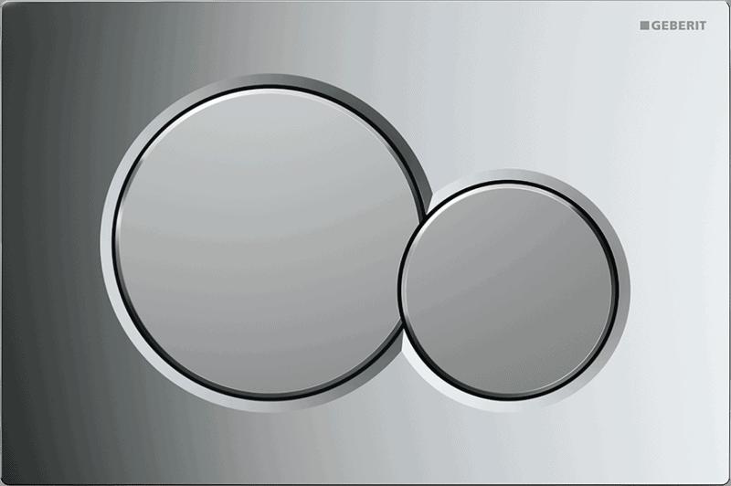 Przycisk uruchamiający przedni Geberit Sigma01 chrom mieszany 115.770.KA.5