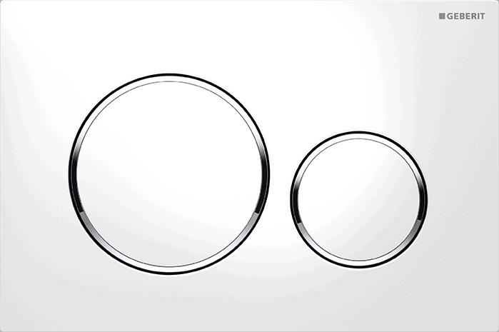 Przycisk spłukujący Geberit Sigma20 biały/chrom błyszczący/biały 115.882.KJ.1