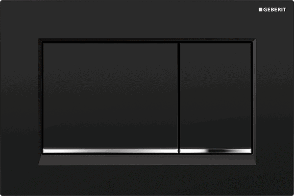 Zdjęcie Przycisk spłukujący Geberit Sigma30 czarny/chrom błyszczący/czarny 115.883.KM.1