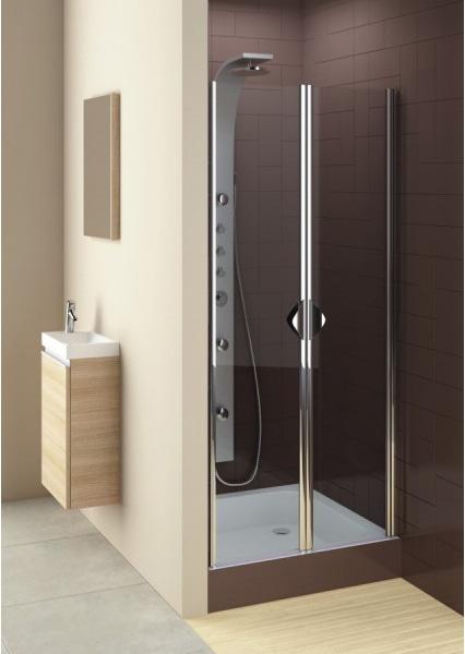 Drzwi prysznicowe Aquaform Glass 5 80cm wahadłowe chrom 103-06355 @ ^