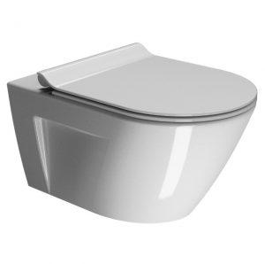 Miska wisząca WC bezrantowa + deska wolnoopadająca GSI Norm 861511+MS86CSN11