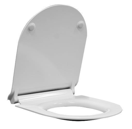 Zdjęcie Deska WC wolnoopadająca GSI Ceramica Norm/Pura Slim/Kube MS86CSN11
