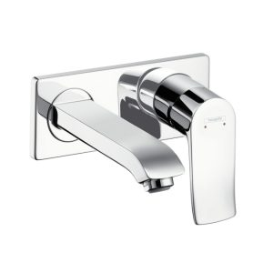 Bateria umywalkowa ścienna jednouchwytowa Hansgrohe Metris E2 31085000