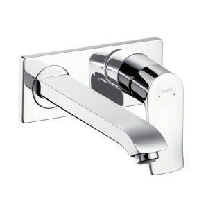 Bateria umywalkowa ścienna jednouchwytowa Hansgrohe Metris E2 31086000