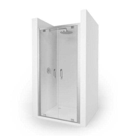 Drzwi wahadłowe do wnęki i ścianki bocznej Huppe Ena 2.0 80cm Anti-plaque 140903.069.322